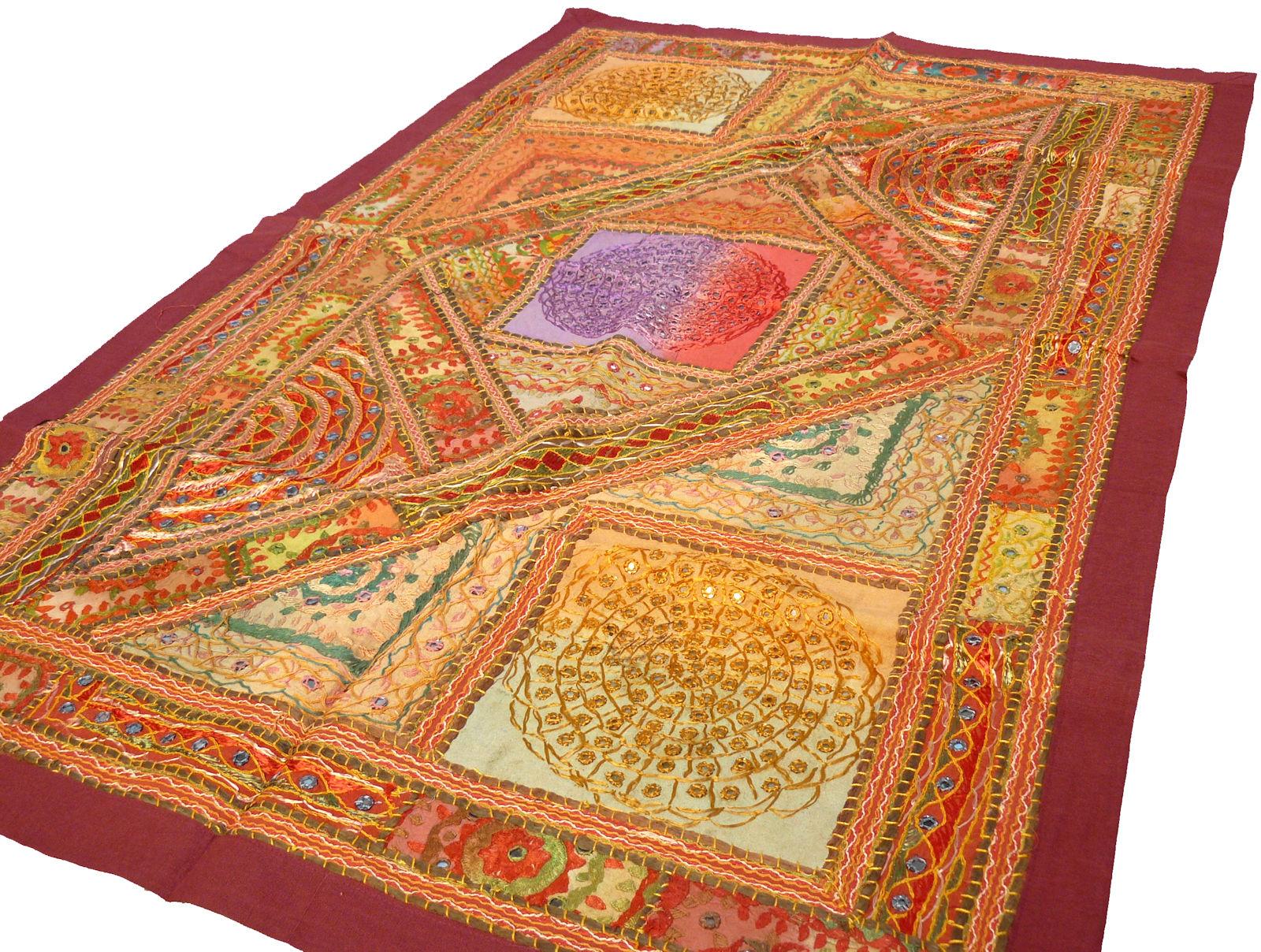 wandbehang wandteppich indien patchwork ethno wandschmuck asien orient unikat ebay. Black Bedroom Furniture Sets. Home Design Ideas