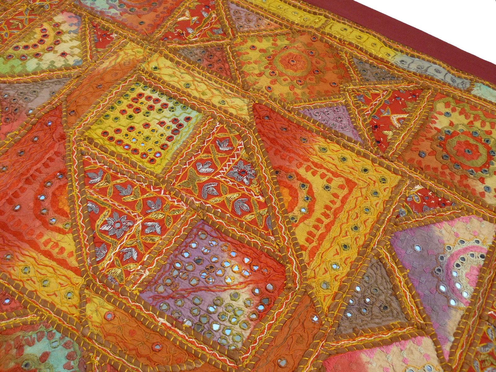 wandbehang wand teppich indien patchwork wand schmuck deko asien yoga hippie goa ebay. Black Bedroom Furniture Sets. Home Design Ideas